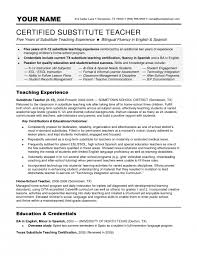 incredible substitute teacher resume objective   resume format webteachers resume objectives certified substitute teacher substitute teacher resume objective