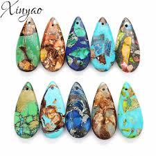 XINYAO 3Pcs/lot <b>10 Colors</b> Natural Stone Pendants <b>Imperial</b> ...