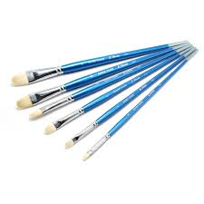 <b>High Quality 6pcs</b>/set Synthetic Acrylic Watercolor Artist Paint Brush ...