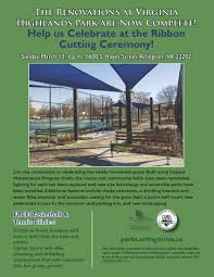 virginia highlands park ribbon cutting parks recreation virginia highlands park ribbon cutting flyer
