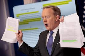 「white house press secretary Sean Spicer, says」の画像検索結果