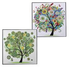 <b>Diamond Embroidery Winter</b> Flower Tree Special Shaped Diamond ...