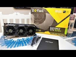 ZOTAC GeForce GTX 1070 AMP Extreme Edition Unboxing - YouTube