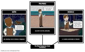 the most dangerous game summary  amp  storyboard lesson plansthe most dangerous game vocabulary