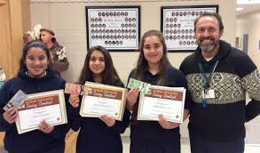 students win top honours in knights of columbus essay writing contest grade 8 winners from st luke pictured from left lindsay hernandez nicole