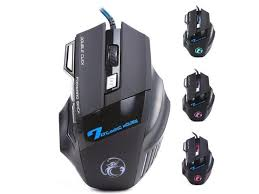 <b>iMice</b> X7 <b>Wired Gaming Mouse</b> Professional 7 Buttons LED Optical ...