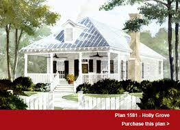 House Plans by John TeeFeatured Design  The shotgun style Holly Grove plan