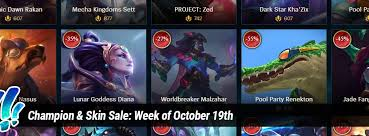Champion & Skin Sale: Week of October 19th - Surrender at 20