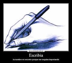 Resultat d'imatges de escribir a mano