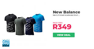 30% off on New Balance Men's <b>Printed Accelerate Short Sleeve</b> ...
