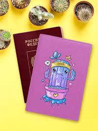 <b>Обложка</b> на <b>паспорт</b> с принтом Cookies Shop 12742275 в ...
