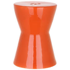 patio stool: liana orange patio stool dda  fef b eaac