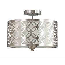 bathroom lights light satin silver flush