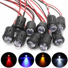 <b>10Pcs 12V</b> 10mm Waterproof Pre Wired Constant LED Ultra Bright ...