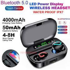 <b>Bluetooth 5.0</b> Headset <b>TWS Wireless</b> Earphones Mini Earbuds ...