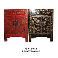 antique asian or antique inspired furniture i have a few pieces but none like these these red and black pieces are beautiful antique inspired furniture