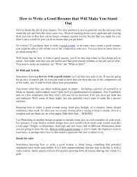 a great resume good sample how to write a perfect resume essay and a great resume good sample how to write a perfect resume essay and in how to make a great resume