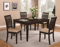 brandt dark cherry wood dining table black wood dining room