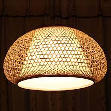 japanese style pendant light balcony lighting living room lamps romance nordic brief bamboo lantern lamp cover bamboo pendant lighting