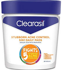 Clearasil Stubborn Acne Control 5in1 <b>Daily Facial Cleansing Pads</b> ...