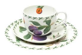 Набор из костяного фарфора: чашка, блюдце и <b>тарелка</b> «Слива ...