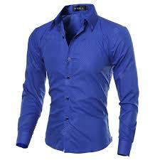 <b>YOONHEEL Shirt Mens Fine</b> Plaid Dark-grain Rhombic Slim Long ...