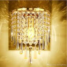 2019 <b>Simple Modern Crystal Wall</b> Lamp Bedroom Bedside LED Wall ...
