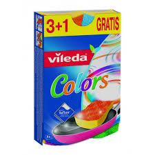 Купить губку <b>Vileda</b> Пур <b>Колорс</b>, 3+1 шт в интернет магазине ...