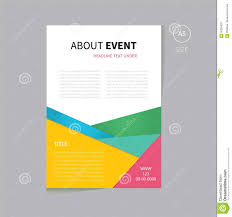 vector event brochure flyer template design a size stock vector vector brochure flyer template design a5 size royalty stock images