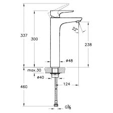 <b>Смеситель для раковины Vitra</b> X-Line A42322 хром/высокий