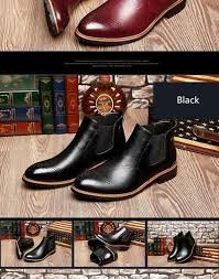 Misalwa Casual Oxford Style <b>Men Chelsea</b> Boots <b>Spring Autumn</b> ...