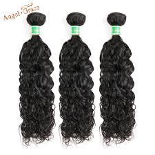 ANGEL GRACE Hair <b>Brazilian Water Wave Hair</b> Bundles 1/3/4 ...