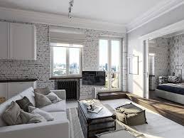grey sofa brick living room furniture