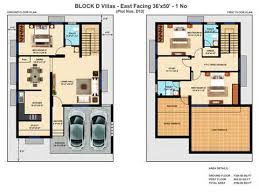 East Facing Duplex House Plan  Floor Plan   VAline East Facing Duplex House Plan