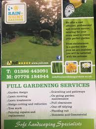 rain or shine gardens evesham garden services yell