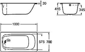 <b>Ванна стальная Roca CONTESA</b> 100х70 белая б/ножек ...
