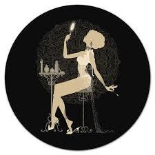 Коврик для мышки (круглый) <b>Красивая девушка с</b> зеркалом ...