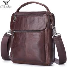 <b>Flanker</b> brand <b>genuine leather</b> men's shoulder bag casual small ...
