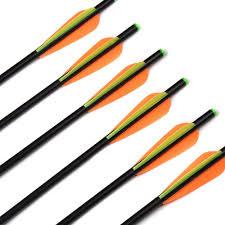 <b>6/12</b>/<b>24pcs 17/20 Inches</b> Fiberglass Crossbow <b>Arrows</b> with Diameter ...