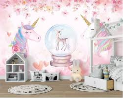 <b>Beibehang Custom</b> 3D <b>Wallpaper Watercolor</b> Unicorn Art Mural Life ...