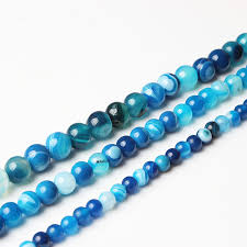 <b>LanLi</b> 4/6/8/10/12MM Fashion <b>Natural Jewelry</b> blue Stripe ...
