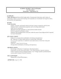 best photos of electrician job description school maintenance cover letter best photos of electrician job description school maintenancemaintenance electrician job description