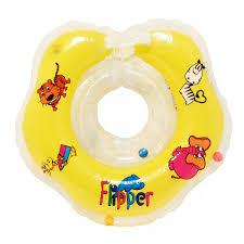FLIPPER <b>Круг на шею для</b> купания малышей ЖЕЛТЫЙ [FL001-Y ...