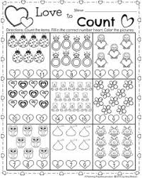 Kindergarten Math and Literacy Worksheets for February - Planning ...Kindergarten Math Worksheet for February - Valentine's Theme Counting Activity.