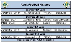 <b>Adult Football</b> Fixtures - Ballyboden