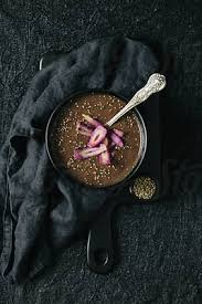<b>Purple</b> carrot and <b>purple</b> sprouting <b>broccoli</b> soup overhead by Kirsty ...