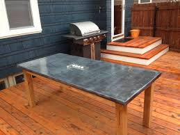 images zinc table top: how to make a diy outdoor zinc table