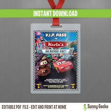 disney cars 2 lightning mcqueen and mater vip pass birthday 🔎zoom