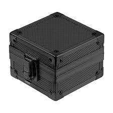 INFANTRY Black Aluminium <b>Single Grid Watch</b> Box for Men Metal ...