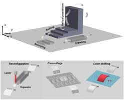 Reconfiguration, <b>Camouflage</b>, and Color‐Shifting for Bioinspired ...